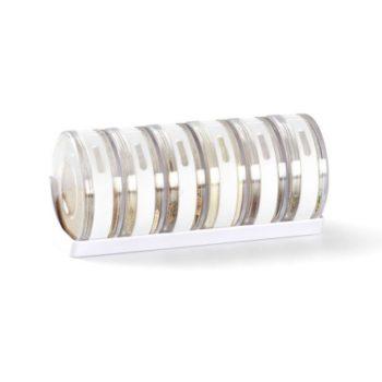 Ёмкости для специй в подставке Cylindra | белые/прозрачные