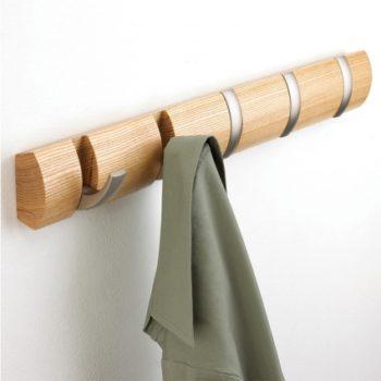 Вешалка настенная Flip 5 крючков | дерево