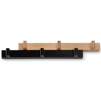 Вешалка раздвижная Switch | черная/натуральное дерево
