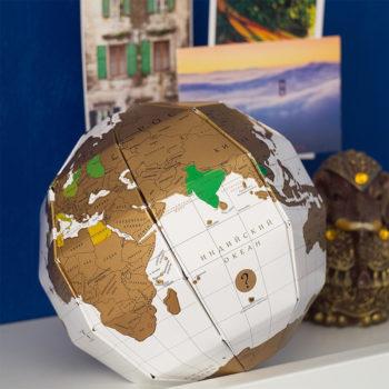 Глобус True World со стирающимся слоем