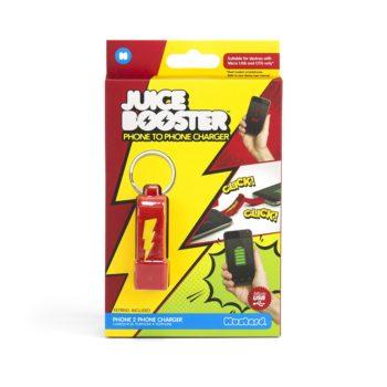 Устройство для зарядки одного телефона от другого Juice Booster   красный