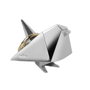 Подставка для колец Origami Animal птица | глянцевое серебро