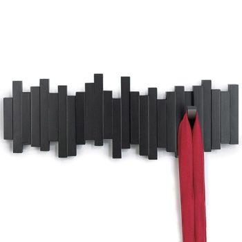 Вешалка настенная Sticks   черная