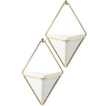 Декор для стен Umbra Trigg малый   белый-латунь