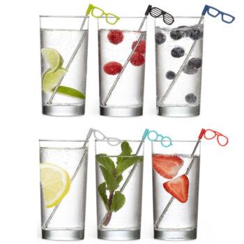 Соломинки для коктейля Glasses | 6 шт.