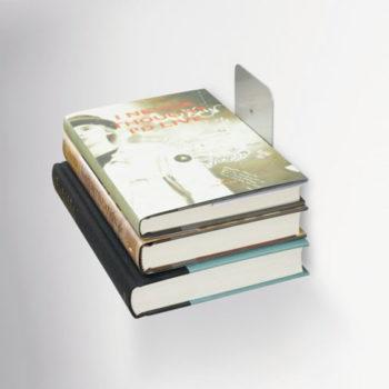 Полка книжная Conceal малая серебристая