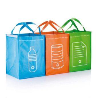 3 сумки для сортировки мусора Loooqs