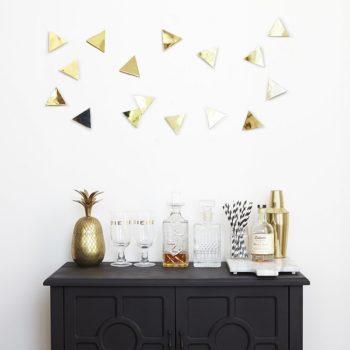 Декор для стен Confetti Triangles   латунь