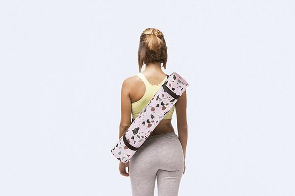 Коврик для йоги terazzo yoga розовый