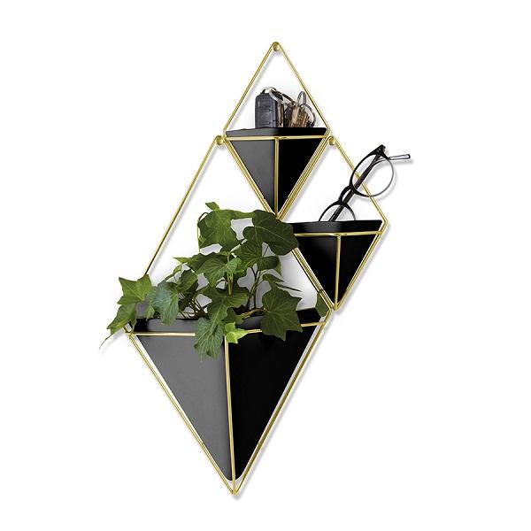 Декор для стен trigg малый черный-латунь