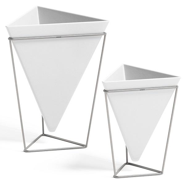Декор настольный trigg белый-никель