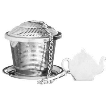 Емкость для заваривания чая с блюдцем